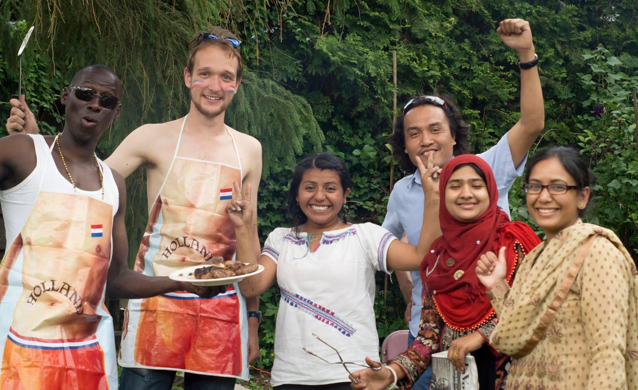 Holanda y compañeros del PhD 2014